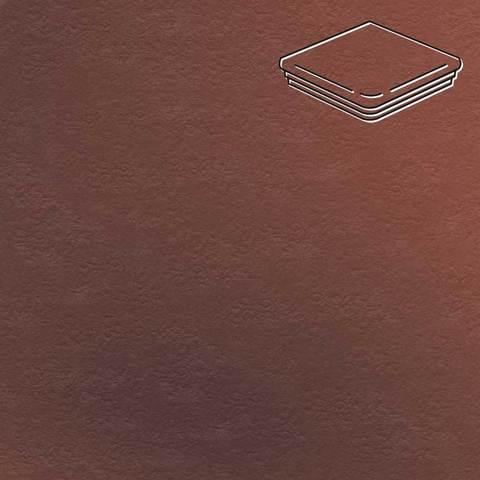 Ceramika Paradyz - Cloud Rosa Duro, 330x330x11, артикул 35 - Ступень угловая с капиносом структурная