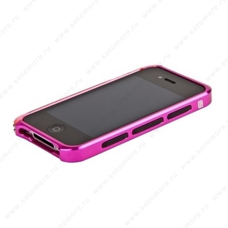 Бампер ELEMENT CASE Vapor 4 алюминиевый для iPhone 4s/ 4 розовый