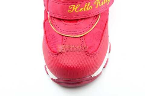 Зимние сапоги Хелло Китти (Hello Kitty) на липучках с мембраной для девочек, цвет красный. Изображение 12 из 14.