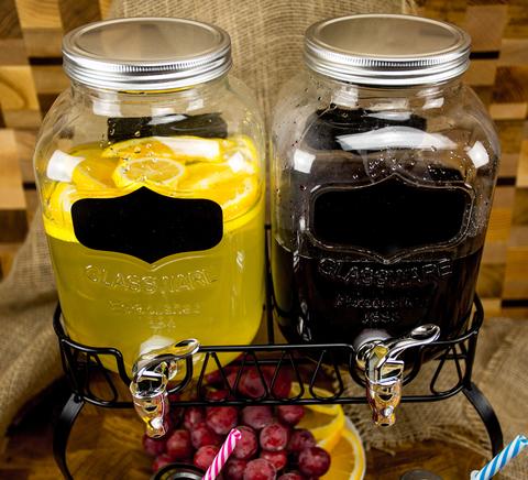 Диспенсеры для напитков 2*4 «Double Yorkshire», по 4 литра