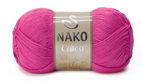 Пряжа Nako Calico фуксия 4569