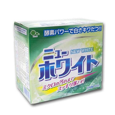 Стиральный порошок с отбеливателем и ферментами для стойких загрязнений Mitsuei New White 900 гр