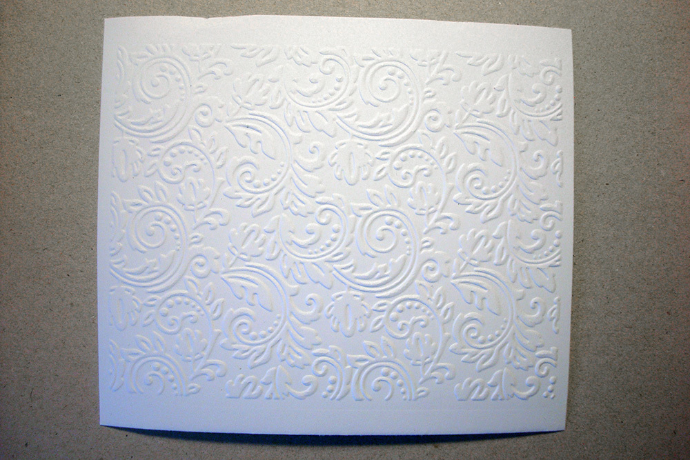 Бумага с тиснением Узоры, белый