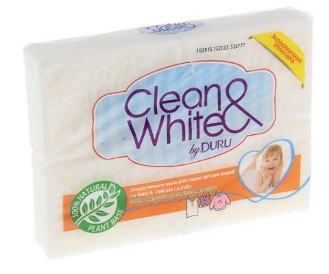 Мыло хозяйственное DURU Clean&White Детское, 4*125 г
