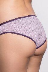 Трусы женские из хлопка с мелким узором фиолетовые