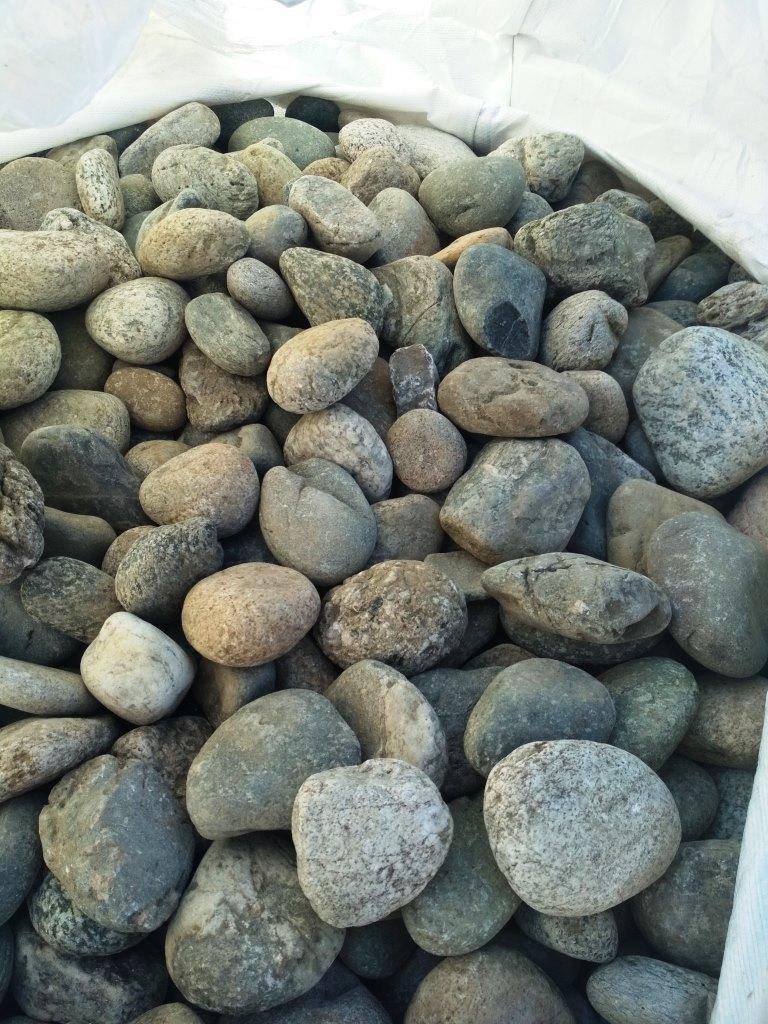 БигБэг Галька камень речной Серый