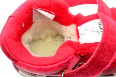 Зимние сапоги Хелло Китти (Hello Kitty) на липучках с мембраной для девочек, цвет красный. Изображение 14 из 14.
