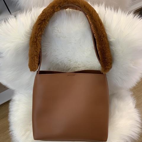 Сумка Fluffy bag /cognac/