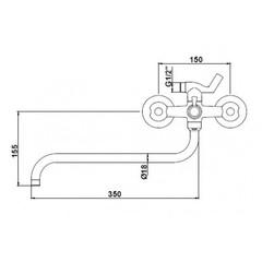 Смеситель KAISER Luna 11080 для ванны схема