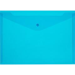 Папка-конверт Attache на кнопке А4 синяя 0.12 мм (10 штук в упаковке)