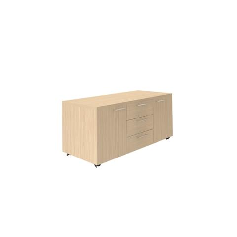 Сервисная тумба (3 ящика + 2 дверцы)