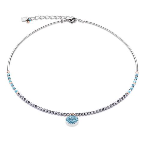 Колье Coeur de Lion 4859/10-2000 цвет голубой