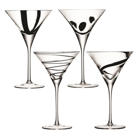 Набор из 4 бокалов для коктейлей Jazz, 250 мл