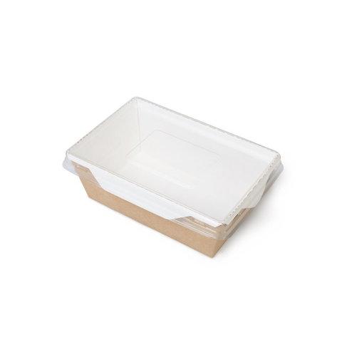 Салатник с прозрачной крышкой (500мл)_картон с крафт-оборотом с ламинацией