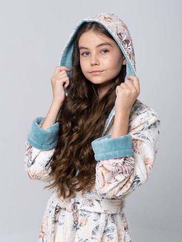LITTLE MADONNA (Mint) детский халат для девочки  Five Wien Турция