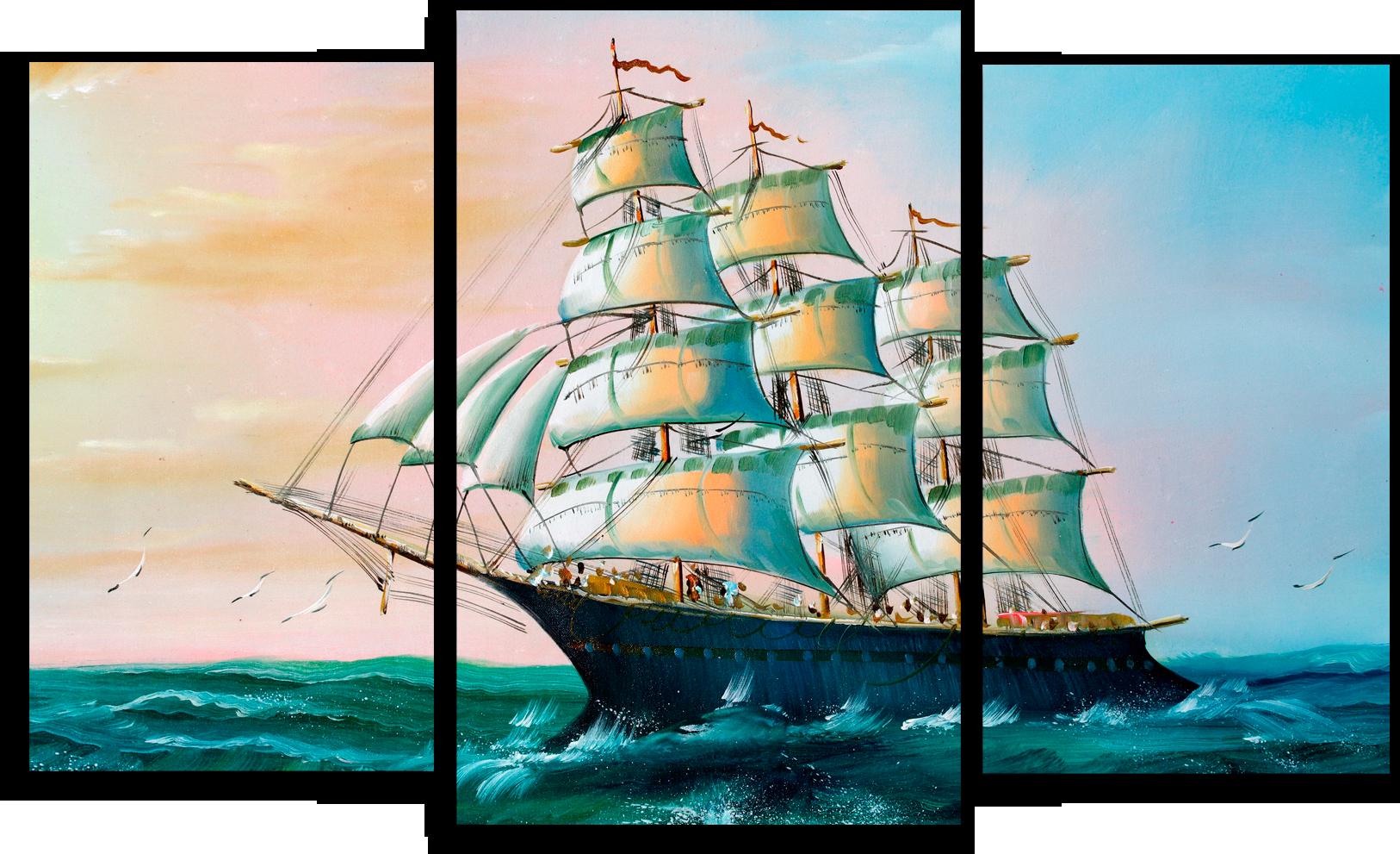 """Природа Модульная картина """"Морской корабль"""" М260.png"""