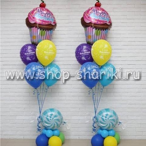 Композиция из шаров Сладкий день рождения