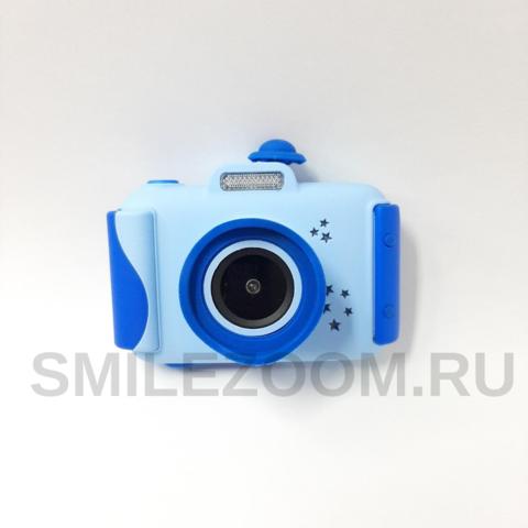 Фотоаппарат детский со вспышкой SmileZoom Широкоугольный 24 Мп / Синий