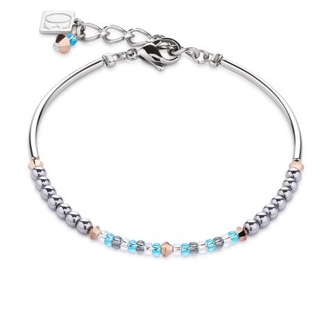 Браслет Coeur de Lion 4859/30-2000 цвет голубой, серый