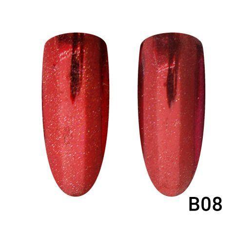 Зеркальная втирка для ногтей красная В08