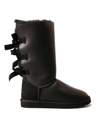 UGG Bailey Bow Tall Metallic Black