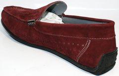 Модные мокасины мужские IKOC 1555-3 Red.
