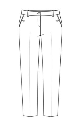 Выкройка школьных брюк для девочки