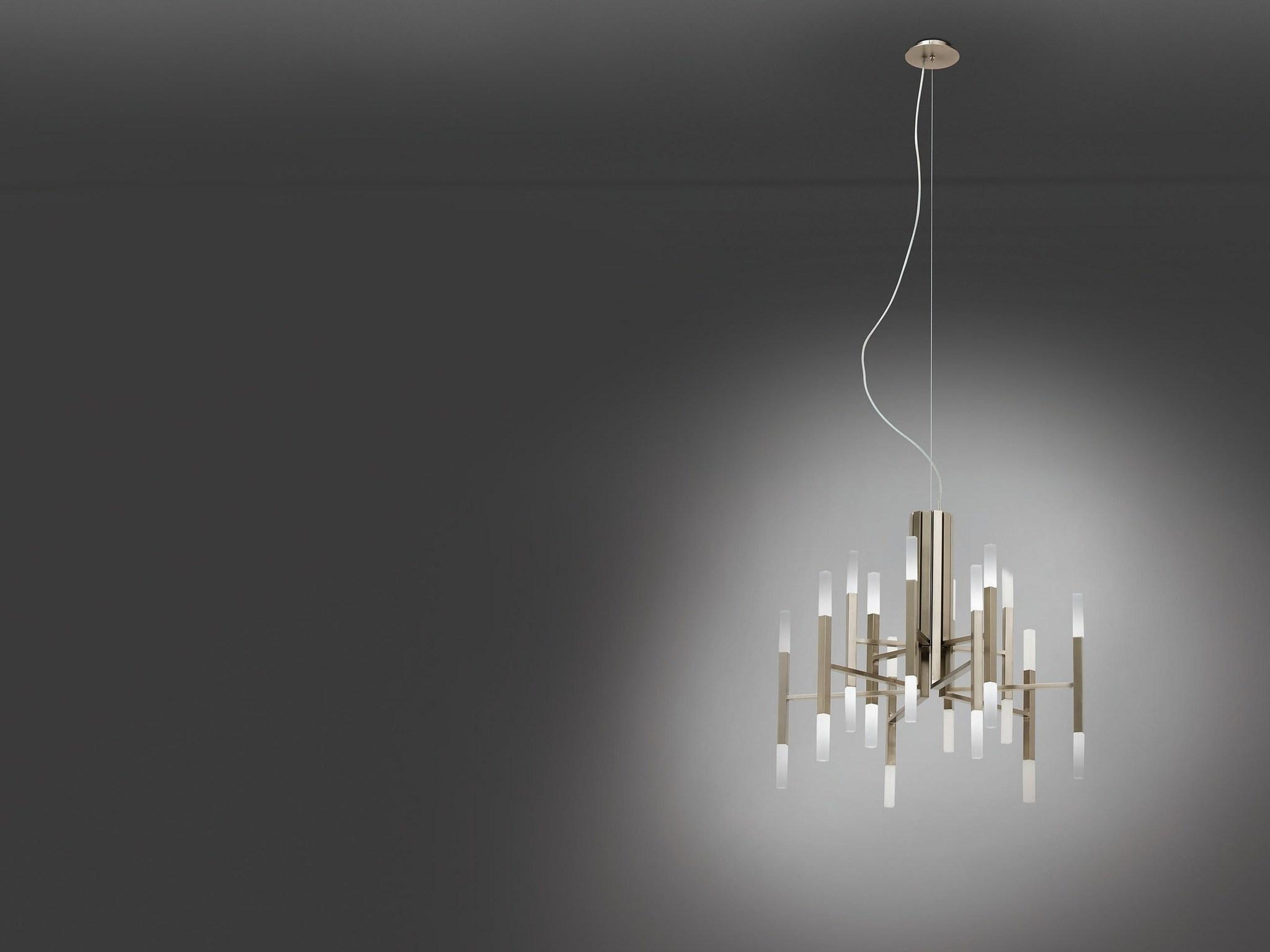 Подвесной светильник копия THE LIGHT by Alma 18 плафонов (никель)
