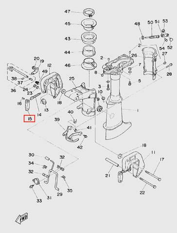 Ручка зажима струбцины для лодочного мотора T5 Sea-PRO (10-15)