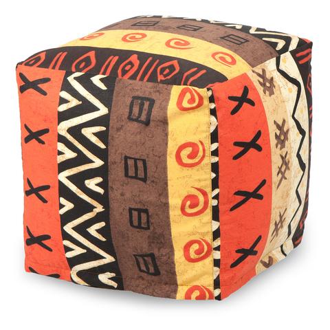 Внешний чехол Пуфик квадратный  40x40x40, Жаккард Африкан