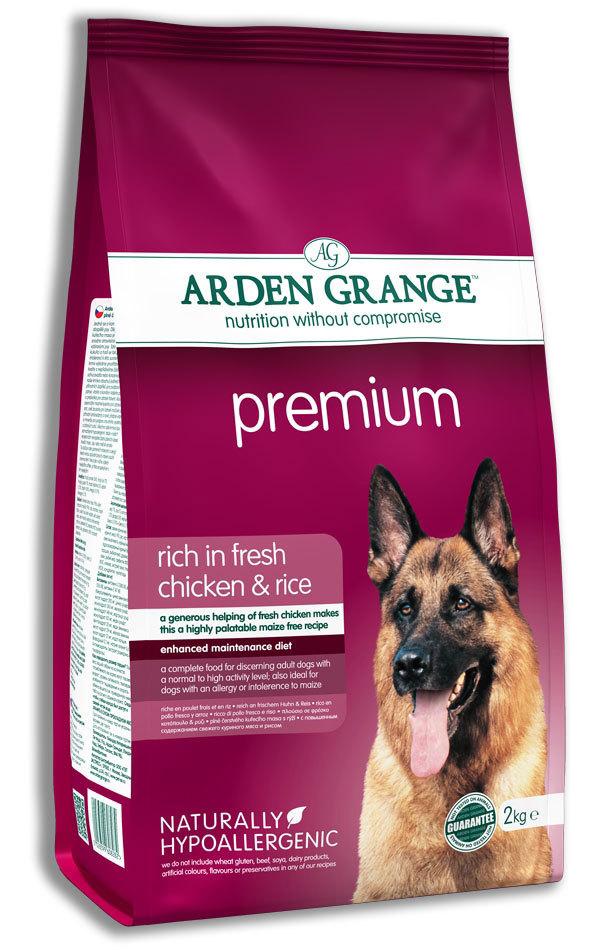 Каталог Сухой корм для взрослых собак, Arden Grange Premium, с высоким содержанием мяса цыпленка AG608282.jpg