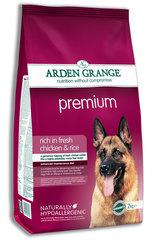 Сухой корм для взрослых собак, Arden Grange Premium, с высоким содержанием мяса цыпленка