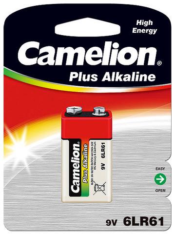 Батарейки Camelion Alkaline 6LR61, 9V крона (1/12) BL