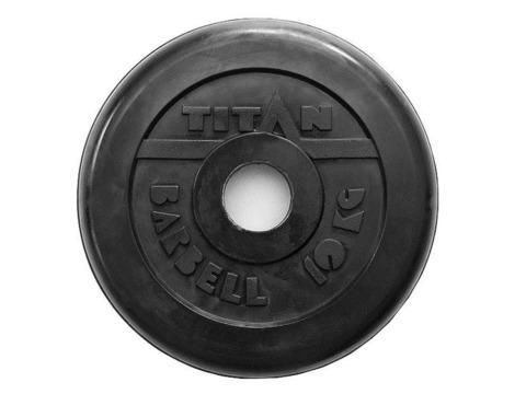 Диск для штанги стальной, цельнометаллический, обрезиненный. Диаметр внутренний 26 мм. Вес 10 кг.