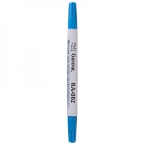 Маркер двухсторонний смывающийся голубой для ткани