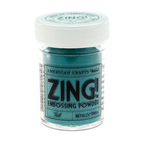 Пудра для эмбоссинга ZING! Metallic Teal