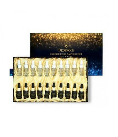 DEOPROCE WHEE HYANG Сыворотка для лица антивозрастная набор DEOPROCE DOUBLE CARE AMPOULE SET (DAY & NIGHT) 13gx20 13гр*20