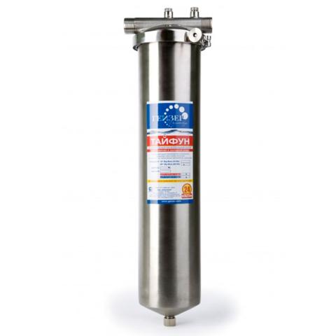 Универсальный магистральный фильтр Гейзер Тайфун BB20 для горячей и холодной воды.