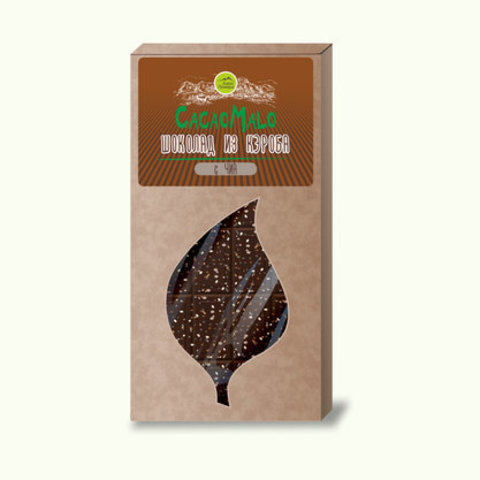 CacaoMalo шоколад из кэроба необжаренного с чиа 75 г