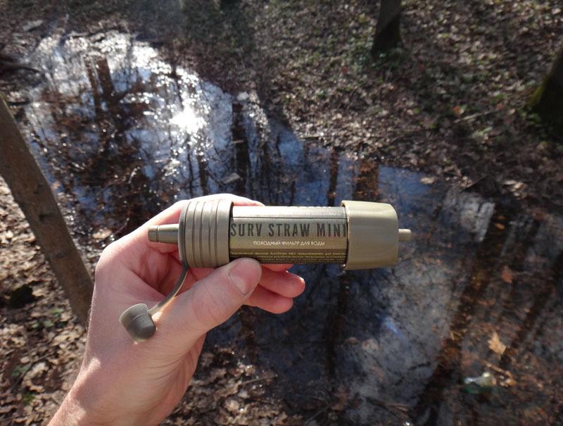 Фильтр для очищения воды SurvStraw Mini (на 1000 литров)