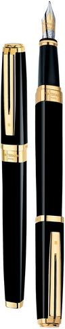 Перьевая ручка Waterman Exception, цвет: Ideal Black/GT