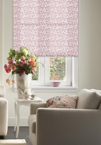 Рулонная штора Бабочки розовый