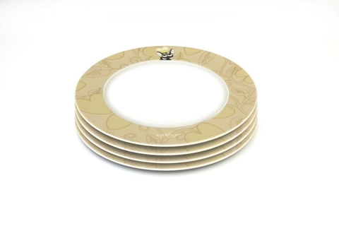Круглая тарелка желтая 21,5см (4х)Lover by lover