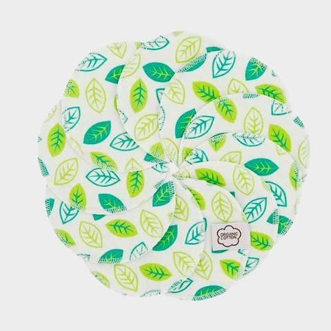 Очищающие диски для лица, орг.хлопок, 10 шт., Green leaves