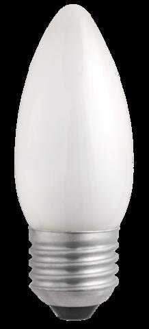 Лампа B35  240V  60W  E27  frosted Jazzway свеча