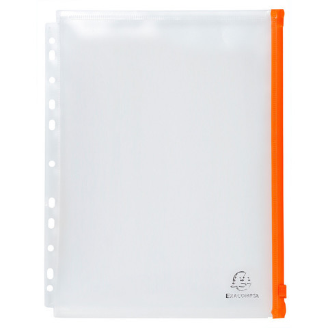 Папка-конверт Exacompta на молнии А4+ прозрачная 0.15 мм (5 штук в упаковке)
