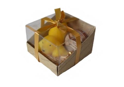 Набор подарочный №7 К Новому Году! (мыло Символ года, бальзам д/губ Помадка (в ассорт.)/ТМ Chocolatte
