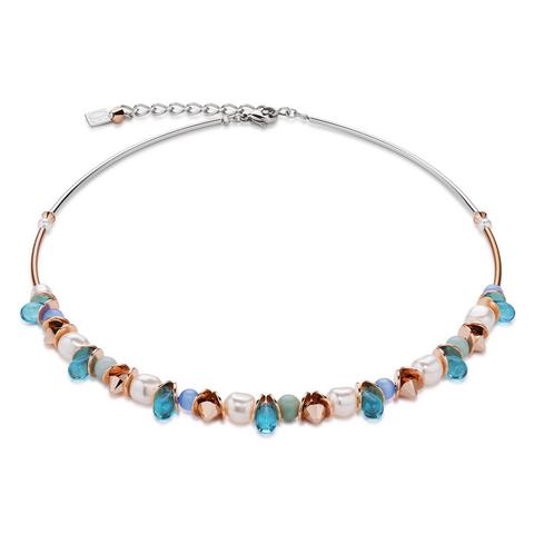 Колье Coeur de Lion 4863/10-0600 цвет голубой, бежевый, белый