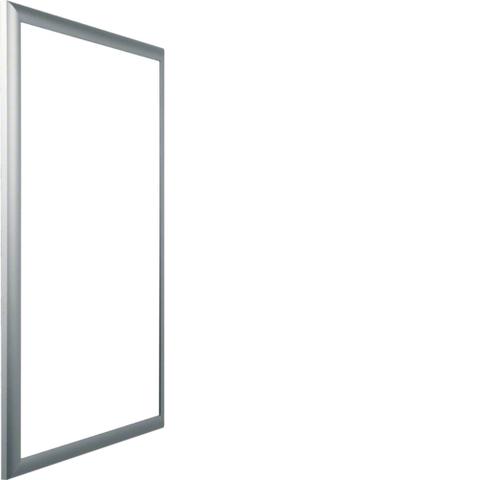 Дверца со сменной вставкой (иллюстративная, зеркальная) для встраиваемого Volta,3-рядного, серебристая