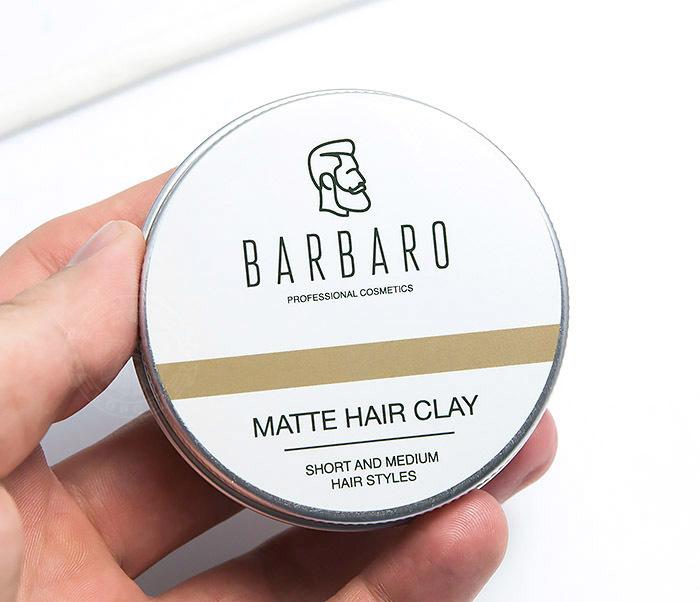 RAZ1021 Матовая глина «Barbaro» для укладки волос с сильной фиксацией (60 гр) фото 04
